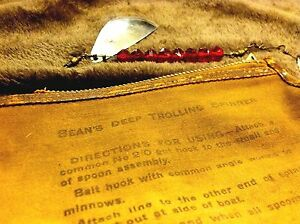OLD RARE LL BEAN VINTAGE FISHING LURE SPINNER TROLLING ORIGINAL CANVAS BAG