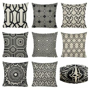 Vintage Black Home Decor PILLOW COVER Sofa Couch Bed Retro Cushion Case 18x18