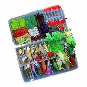 Fishing Lure Kit for Freshwater Saltwatertrout Bass Salmon(with Free Tac... New