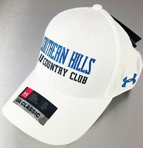 Under Armour Golf Hat Cap White Blue Southern Hills UA Classic Fit SMMD