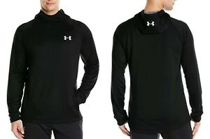 NWT Under Armour Mens Tech Terry Hoodie Pullover Black 2XL 1289697