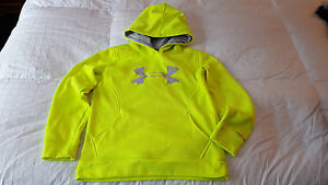 Under Armour Girl's Hoodie Hooded Top  Sz. Youth Medium  Lime Green