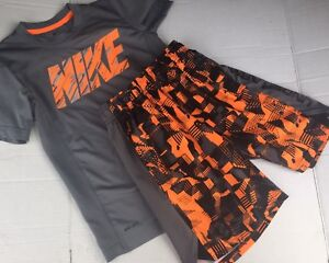 Boys UNDER ARMOUR NIKE Lot 10 Dri Fit Loose Shirts Athletic Shorts YSM Small