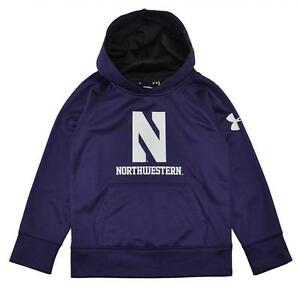Under Armour Toddler Boys Purple Northwestern Wildcats Pull Over Hoodie Size 3T