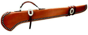 34quot; Leather Rifle Shotgun Scabbard Case Holster Hunting Storage for Horse or Car
