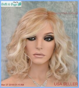 RADIANT BEAUTY GABOR WIG COLOR GL14-22SS SANDY BLOND LACE FRONT MONO PART