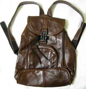 Women's Or Child's 100% Leather Backpack - Made In Mexico - Brown - New NWOT