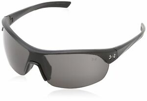 Under Armour Marbella Shield Satin Black Frame with Black Rubber and Gray Lens