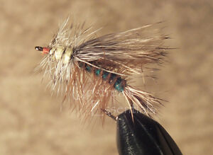 Green Attractor Stimulator Fly Size 8 1 Dozen Dry Trout Flies F772