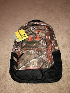 RealTree Camo Under Armour UA Hustle Storm Backpack NWT $70