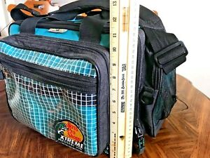 LARGE FISHING TACKLE BAG BASS PRO SHOPS EXTREME PRESIDENT 370 LURE BOXES TRAYS