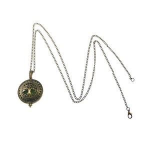1X Antiqued Bronze Brass Hollow Life Tree Locket Pendant Charm Necklace Diffuser $2.84