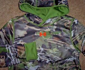 NWT Under Armour REVERSIBLE FOREST GreenCAMO Ridge Reaper Sweatshirt YXL XL Boy