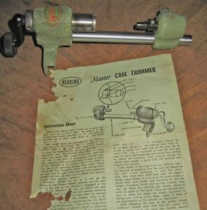 Redding Master Case Trimmer and Instructions