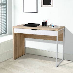 White Computer Desk Work Station Writing Table Home Office Furniture WDrawer