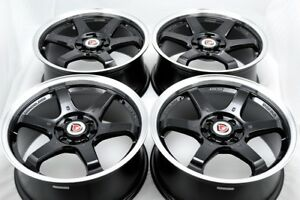 17 black wheels Cobalt CL Legend Escort Accord Civic Ion Cube 4x100 4x114.3 Rims