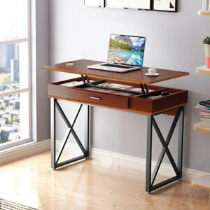 Tribesigns Lift Top Computer Desk Desk with Storage Drawers for Home Office New