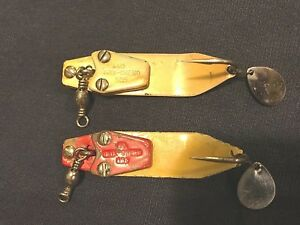 OLD RARE VINTAGE FISHING LURES TACKLE SOUTH BEND TRIX ORENOS BAIT SPOONS NO 595
