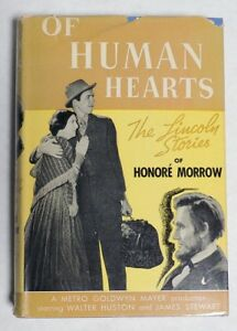 ESA1127 Vintage: OF HUMAN HEARTS Lincoln Stories Hardcover Triangle Books 1938 $10.00