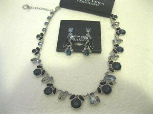 SIMPLY VERA WANG Necklace and Earring Set - Blue - Turquoise Stones - Brand New