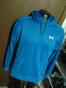 UNDER ARMOUR UA mens XL Aqua turquoise BLUE HOODIE Hooded Sweatshirt ColdGear