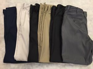 NIKE GOLF DRI-FIT 34x30 LOT 7 Pr Pants Poly Spandex Comfort UNDER ARMOUR