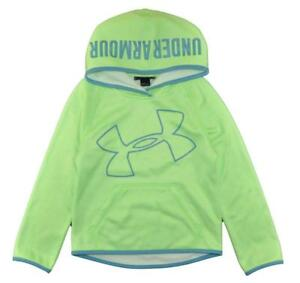 Under Armour Girls Lime Green & Blue Pull-Over Hoodie Size 5