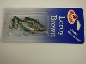 Manns Leroy Brown NIP Bass Fishing Lure Manns 14 oz Silver Baby Bass