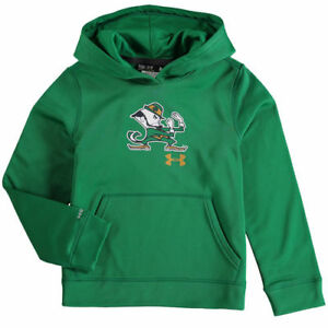 Notre Dame Fighting Irish Under Armour Youth Armour Fleece Pullover Hoodie -