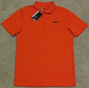 Nike Golf Dri Fit Polo Shirt Modern Fit Orange Black Air Tiger Woods NEW men S