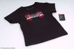 Under armour 2T Black Youth Knit Top Heat Gear Keeps You Cool Short Sleeve 7130