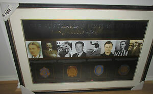 AFL Medals of Honour Limited Edition print framed. Brownlow Norm Smith Coleman