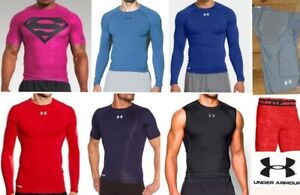 lot UNDER ARMOUR compression shirts shorts heat gear long short sleeve men small