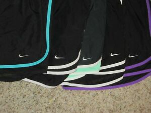 LOT 5 WOMEN NIKE DRI-FIT TEMPO RUNNING SHORTS SZ XL W ATTACHED BRIEF LINER