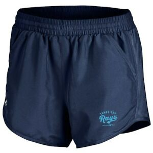 Tampa Bay Rays Under Armour Women's Fly By Performance Running Shorts - Navy