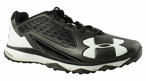 Under Armour Mens - Black Running Shoes Size 12 Wide (E W) (335185)