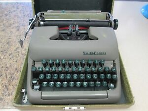 Vintage Smith Corona Sterling Typewriter in Case Serial #5A451626