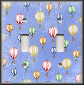 Metal Light Switch Plate Cover Sky Filled With Hot Air Balloons Home Decor