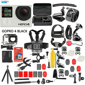 GoPro HERO4 Black Edition Camera Camcorder + 50 Piece Accessory Kit