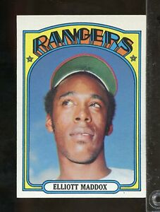 1972 Topps ELLIOTT MADDOX Texas Rangers #277 NRMT or better (JU27