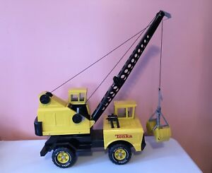 Vintage Large Tonka Crane With Clam Shell Bucket - Construction