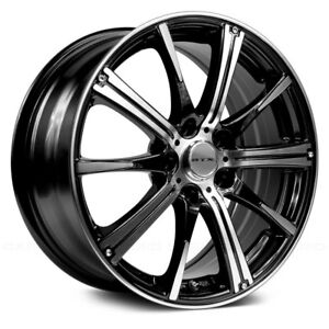RTX SPARK Wheels 15x6 (45 4x100 73.1) Black Rims Set of 4