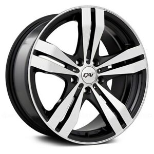 DAI Alloys DW34 TARGET Wheels 15x6.5 (40 4x100 73.1) Black Rims Set of 4