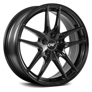 DAI Alloys DW100 APEX Wheels 17x7.5 (42 4x100 73.1) Black Rims Set of 4