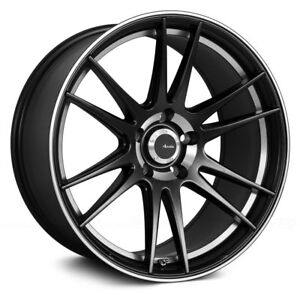 Advanti Racing OPTIMO Wheels 17x7 (40 4x100 73.1) Black Rims Set of 4