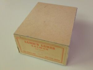 Vintage Luhr Jensen & Sons Luhr's Lures Salmon Spinners Dealer Box #5