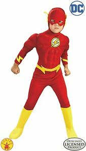 DC Comics Deluxe Muscle Chest The Flash Boys Kids Child Costume Rubies 882308
