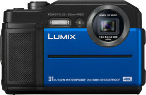 Panasonic LUMIX TS7 Waterproof Tough 20.4 MP 4.6x Zoom Digital Camera (Blue)