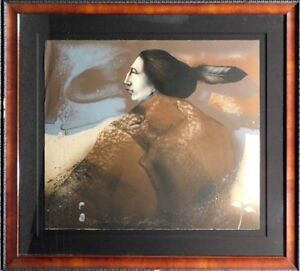 Frank-Howell MOON SHADOW lithograph with Custom Frame Hand Signed Make an Offer