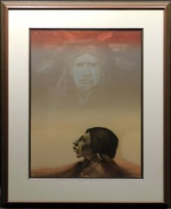 Frank-Howell Sky Prophet lithograph with Custom Frame Hand Signed Make an Offer